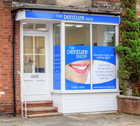 Outside Horsham Denture Shop @ Station Road RH13 5EY