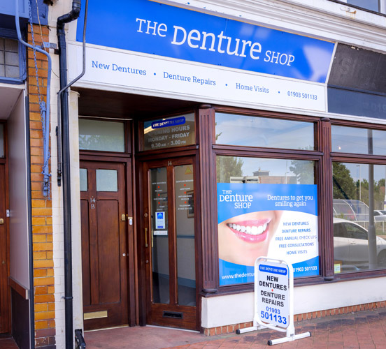 Outside Worthing Denture Shop BN11 4SS