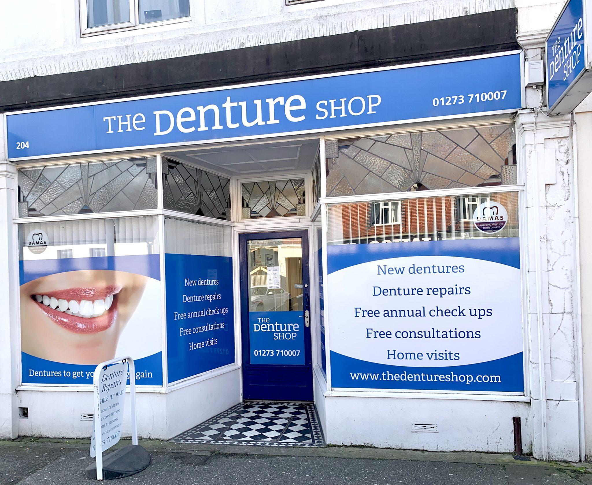 Outside Redhill Denture Shop BN3 5QN